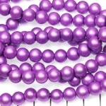 glass pearls matte 8 mm - lilac purple