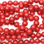glass pearls matte 8 mm - red