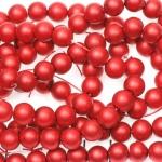 glasparels mat 8 mm - rood