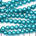 glasparels mat 8 mm - turquoise
