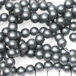 glasparels mat 8 mm - grijs donkerzilver
