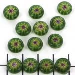 millefiori rond 10 mm - groen