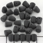 gumdrops 8x10 mm - black jet with matte finish