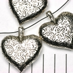 hart mooi versierd - zilver