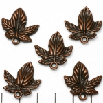 5 pointed leaf 22 mm - brass