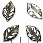 oval leaf 25 mm - silver