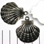 platte schelp - zilver