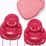 happy buddha - donkerroze fushia
