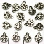 rond gestreept 13 mm - zilver