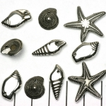 schelpenmix - zilver