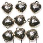 versierd hart - zilver 17 mm