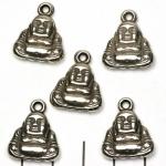 zittende buddha - zilver