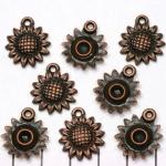 zonnebloem - enkelzijdig brons
