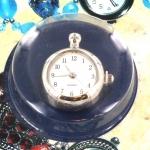 horlogeklokje - bedel zilver