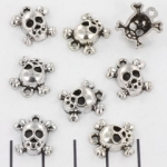 hanger doodshoofd 14 mm - zilver