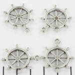 boat steering wheel - 28 mm silver