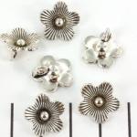 flower 14 mm - silver