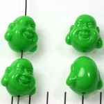 happy buddha smiling - green