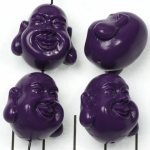 happy buddha smiling - purple
