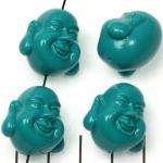 happy buddha smiling - turquoise
