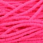 Katsuki Heishi (disc)kralen 4 mm - neon roze