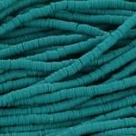 Katsuki Heishi (disc)kralen 4 mm - donker turquoise