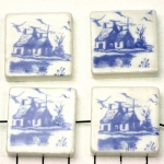 delft-ware ceramic tile horizontal - cottage