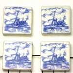 delft-ware ceramic tile horizontal - mill