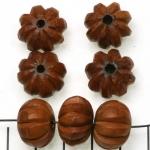 hout rondel met strepen - 12 mm