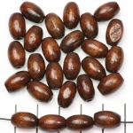 wood oval 12 mm - brown
