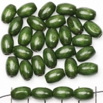 wood oval 12 mm - green