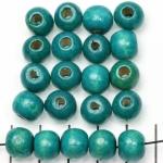 wood round 9 mm - blue green