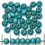 hout rond 6 mm - blauw groen