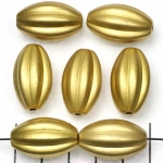 oval striped 24 mm - gold matte