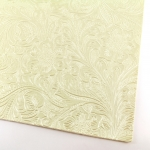 imitation leather - creme with flower motive A4