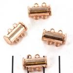 insteekslot magnetisch rosé - 2 ringen