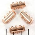 insteekslot magnetisch rosé - 3 ringen