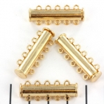insteekslot magnetisch licht goud - 5 ringen