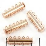 insteekslot magnetisch rosé - 5 ringen
