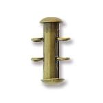 insteekslot magnetisch - 2 oogjes verticaal brons