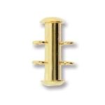 insteekslot magnetisch - 2 oogjes verticaal goud