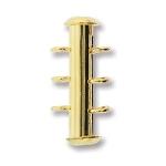 insteekslot magnetisch - 3 oogjes verticaal goud