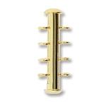 insteekslot magnetisch - 4 oogjes verticaal goud