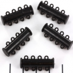 slide lock magnetic black - 4 rings