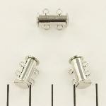 insteekslot magnetisch zilver - 2 ringen