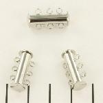 insteekslot magnetisch zilver - 3 ringen