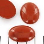 cabochon 30 x 22 mm - jaspis rood