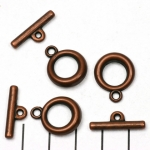 toggle clasp basic round - brass