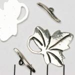 kapittelslot blad - zilver
