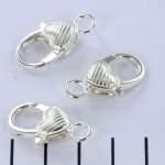 clasp lobster claw heart - silver 25 mm